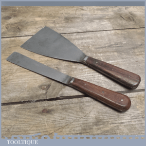 2 Quality Rosewood Handled Scrapers - Decorating Tools
