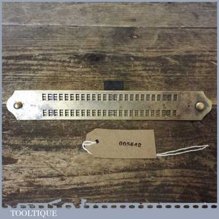 """Scarce Vintage Brass Braille Slate Stamped 188 8"""" Long - Good Condition"""