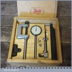 Boxed Vintage Precision Engineers Baty Clock Gauge Dial Test Indicator With Accessories