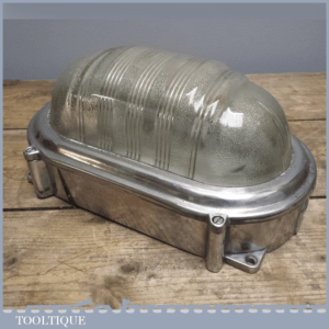Vintage sp10 Coughtrie Bulkhead light - Polished Industrial Steampunk Lighting