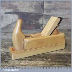 Vintage Daemon Of Germany Beech Wood Smoothing Plane - Hornbeam Sole