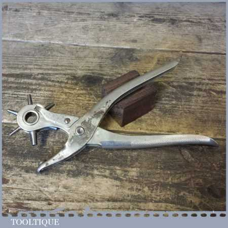Vintage MAUN (Older constructed Model) Leatherworking Rotating Hole Punch Pliers