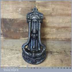 Antique Reclaimed Cast Iron Door Knocker Marked R.A.L Co Possibly French In Origin - Good Condition