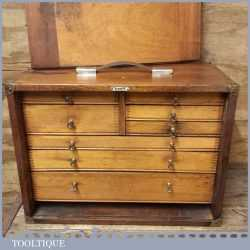 """Vintage Emir London Engineer's Multi Draw Tool Chest 18"""" x 13"""" - Good Condition"""