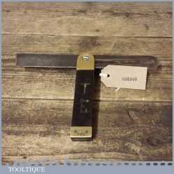 """Vintage Carpenters 9"""" ebony and brass sliding bevel in good used condition"""