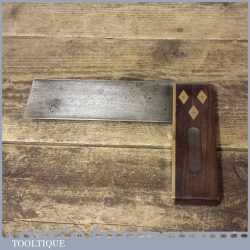 """Vintage Stanley Carpenters Rosewood & Brass 6"""" Try Square - Good Condition"""