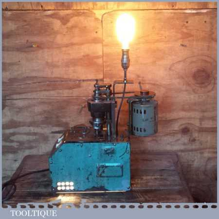 Unique Vintage Machine Age Industrial Ambient Lamp Light - Artistic Retro Steampunk Design