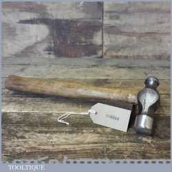 Vintage Ball Pein Hammer With Wooden Handle - Refurbished Ready For Use