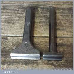 "2 No: Vintage Blacksmiths ¼"" + 5/16"" Rounding Swage Tools - Good Condition"