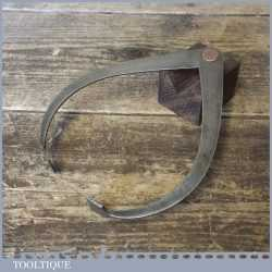 """Vintage Pair 6"""" Outside Steel Dividers With Widened Flat Ends - Good Condition"""