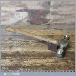 Vintage 2 1b Ball Pein Hammer With Wooden Handle - Good Condition