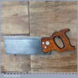 """Vintage Henry Disston USA 10"""" Steel Back 11 TPI Hand Saw - Refurbished Ready For Use"""