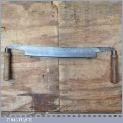 "Vintage Coopers I. Sorby Kangaroo Brand Drawknife 14 ½"" Cutting Edge - Sharpened"