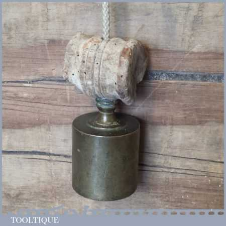 """Unusual 3"""" Vintage Continental Plumb Bob With Cork Spacer - Good Condition"""