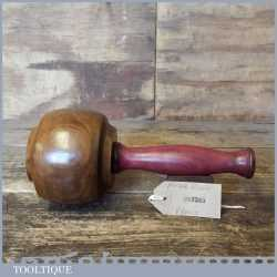 Craftsman Old Lignum Vitae Woodcarvers Mallet Purple Heart Handle - Ebony Wedge