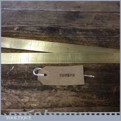 Vintage 2ft John Rabone And Sons Brass Folding Ruler - Fair Condition