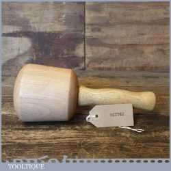 "Nice Beech Wood Woodcarving Mallet 4"" Wide Head - Lacewood Handle Unused"