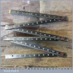 Vintage 6ft Rabone No: 1531 Folding Ruler Ebonised Finish - Good Condition