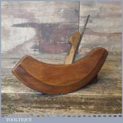 Unusual Vintage Coachmakers Beech Compass Round Moulding Plane