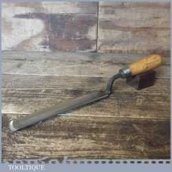 "Vintage Sorby Pattern Makers 1 1/8"" Cranked Firmer Gouge Paring Chisel - Fully Refurbished"