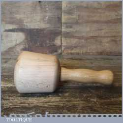 Nice Beech Wood Woodcarving Mallet Ash Handle - Unused Condition