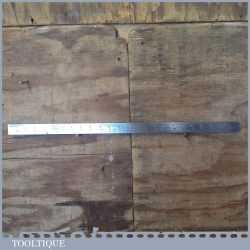 """Vintage Chesterman 24"""" Imperial Steel Contraction Ruler No: 618D - Good Condition"""
