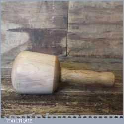 "Nice Beech Wood Woodcarving Mallet 4"" Wide Lacewood Handle - Ebony Wedge"