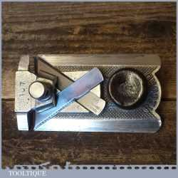 Vintage Record No: 2506 Side Rabbet Plane With Depth Guide - Refurbished Ready For Use