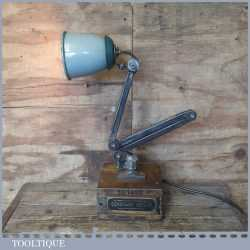 Vintage Steampunk Industrial Machinists Steel Anglepoise Light Lamp - PAT Tested