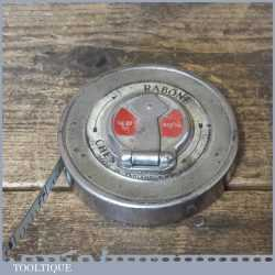 Vintage 33 ft Rabone Chesterman No: 70W Steel Tape Measure - Good Condition