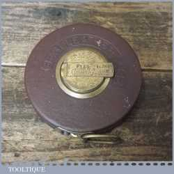 Vintage Draper Of Germany No. 209N 66 ft Tape Measure - Good Condition