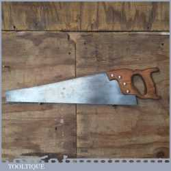 """Vintage Spear & Jackson 21"""" Rip Saw With 6 TPI - Fully Refurbished Sharpened"""