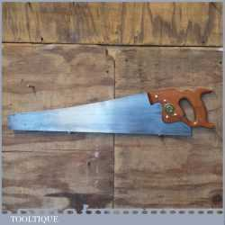 """Vintage 24"""" Spear And Jackson Sheffield Rip Hand Saw 7 TPI - Fully Refurbished"""