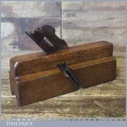 """Scarce Antique 1 ½"""" Twin Ironed Nosing Moulding Plane - Dryburgh Canada 1857-1892"""