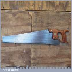 """Vintage 20"""" Spear And Jackson Sheffield Cross Cut Saw 10 TPI - Fully Refurbished"""