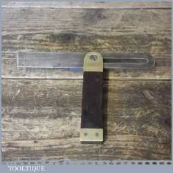 """Vintage Carpenters Rosewood And Brass 7 ½"""" Sliding Bevel - Good Condition"""