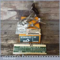 Vintage Boxed Stanley No: 50 Combination Plough Plane - Almost New Condition