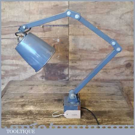 Vintage Mid Century Machinists Steel Anglepoise Lamp - Electrically Inspected