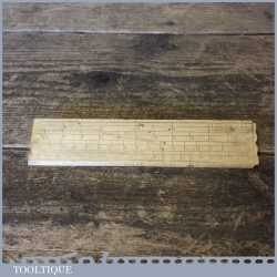 Vintage Imperial 6″ Boxwood Gunter's Scale Ruler Cupids Bow End