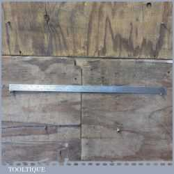 """Vintage Chesterman Sheffield 24"""" Imperial Steel Extra Long Ruler No: 80/4"""