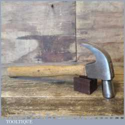 Vintage English made No: 4 cast steel claw hammer with wooden handle in good used condition.