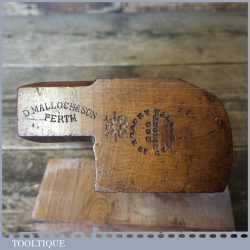 "Antique No: 18 D Malloch Perth 1 1/8"" Round Beech Moulding Plane"