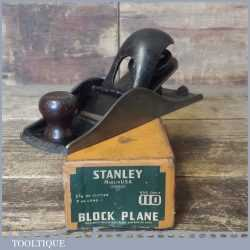 Vintage Boxed Stanley Sweetheart USA No: 110 Block Plane - Fully Refurbished