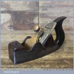 Antique Spiers Of Ayr Cast Steel Smoothing Plane Rosewood Infill - Gunmetal Cap