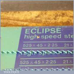 "New Old Stock Eclipse Heavy Duty 21"" x 1 ¾"" x 4 TPI HSS Power Hacksaw Blades"