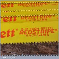 "New Old Stock Starrett Redstripe Heavy Duty 21"" x 1½"" x 6 TPI HSS Power Hacksaw Blades"