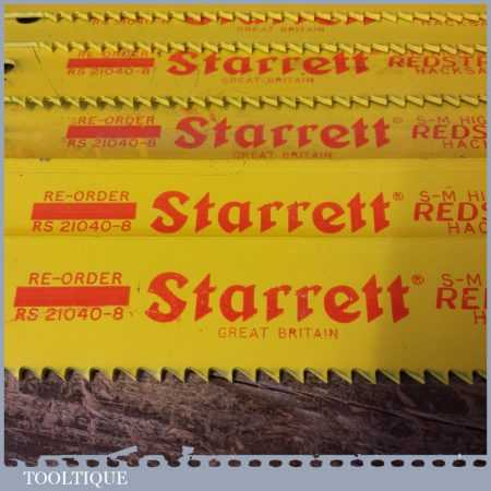"New Old Stock Starrett Redstripe Heavy Duty 21"" x 1½"" x 4 TPI HSS Power Hacksaw Blades"