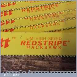 "New Old Stock Starrett Redstripe Heavy Duty 22 ½"" x 1½"" x 7 TPI HSS Power Hacksaw Blades"