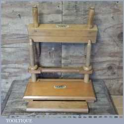 Vintage Dryad Of Leicester Beechwood Bookbinders Finishing Press & Stitching Frame