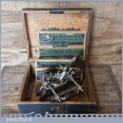 Vintage Stanley Sweetheart USA No: 55 Combination Plough Plane 4 Sets Cutters - Fully Refurbished